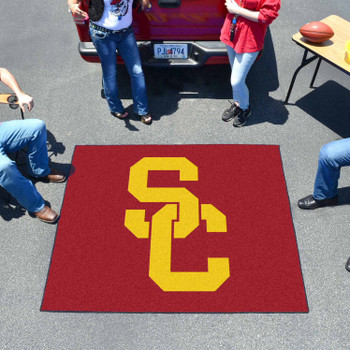 "59.5"" x 71"" University of Southern California Red Tailgater Mat"