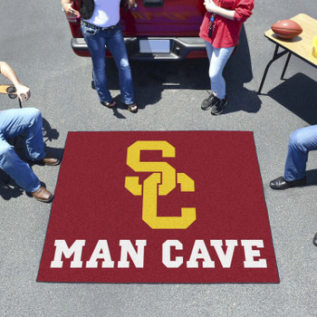 "59.5"" x 71"" University of Southern California Man Cave Tailgater Red Rectangle Mat"