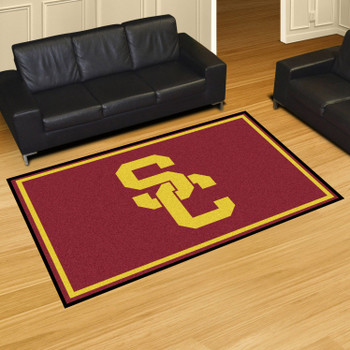 5' x 8' University of Southern California Red Rectangle Rug
