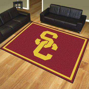 8' x 10' University of Southern California Red Rectangle Rug