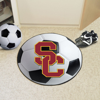 "27"" University of Southern California Soccer Ball Round Mat"