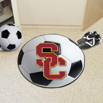 "27"" University of Southern California Soccer Ball Round Mat"