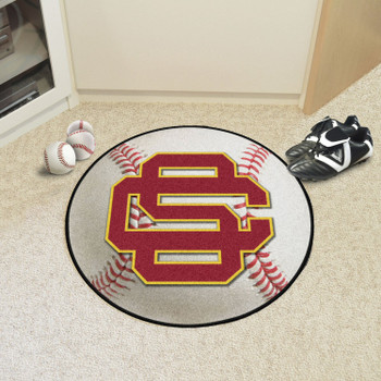 "27"" University of Southern California Baseball Style Round Mat"