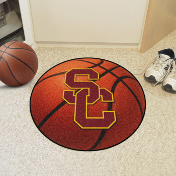 "27"" University of Southern California Basketball Style Round Mat"