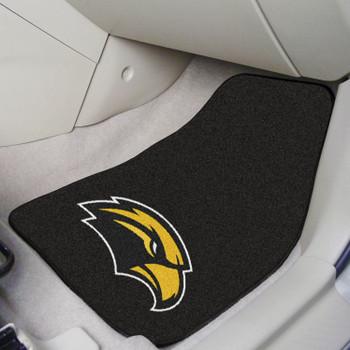 University of Southern Mississippi Black Carpet Car Mat, Set of 2
