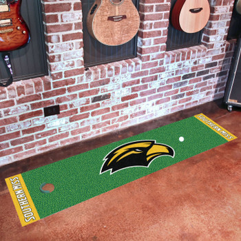 "18"" x 72"" University of Southern Mississippi Putting Green Runner Mat"