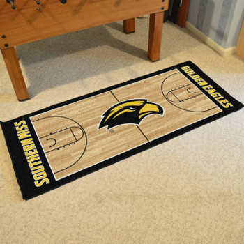 "30"" x 72"" University of Southern Mississippi NCAA Basketball Rectangle Runner Mat"