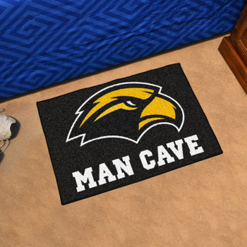 "19"" x 30"" University of Southern Mississippi Man Cave Starter Black Rectangle Mat"