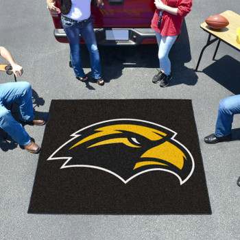 "59.5"" x 71"" University of Southern Mississippi Black Tailgater Mat"