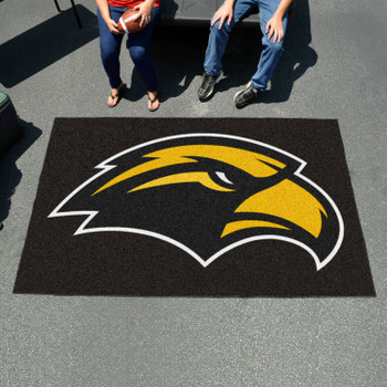 "59.5"" x 94.5"" University of Southern Mississippi Black Rectangle Ulti Mat"
