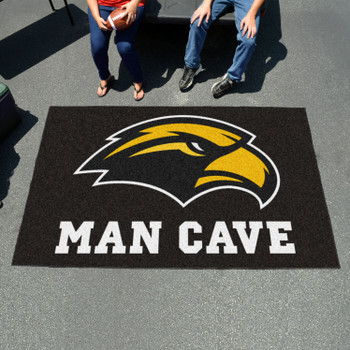 "59.5"" x 94.5"" University of Southern Mississippi Man Cave Black Rectangle Ulti Mat"