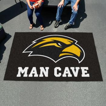 "59.5"" x 94.5"" University of Southern Mississippi Man Cave Black Rectangle Ulti Mat"