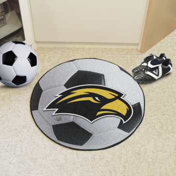 "27"" University of Southern Mississippi Soccer Ball Round Mat"