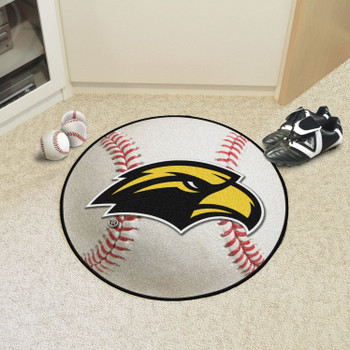 "27"" University of Southern Mississippi Baseball Style Round Mat"