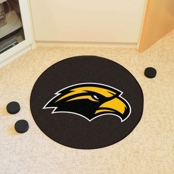 "27"" University of Southern Mississippi Puck Round Mat - ""Eagle"" Logo"