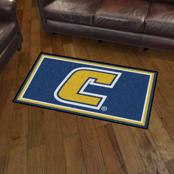 3' x 5' University of Tennessee Chattanooga Blue Rectangle Rug