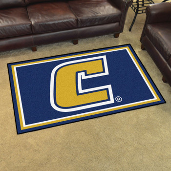 4' x 6' University Tennessee Chattanooga Blue Rectangle Rug