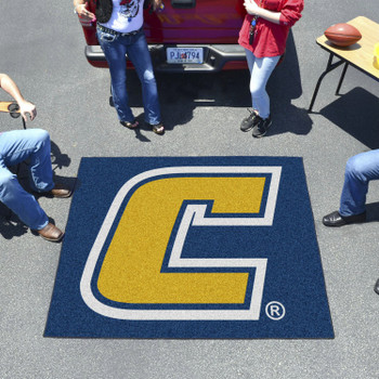 "59.5"" x 71"" University Tennessee Chattanooga Yellow Tailgater Mat"