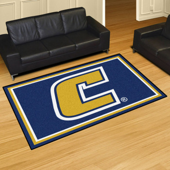 5' x 8' University Tennessee Chattanooga Blue Rectangle Rug