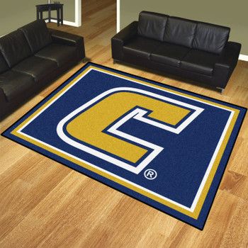 8' x 10' University Tennessee Chattanooga Blue Rectangle Rug