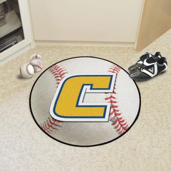 "27"" University Tennessee Chattanooga Baseball Style Round Mat"