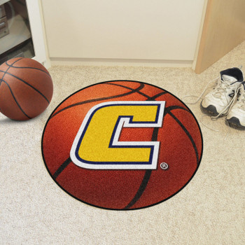 "27"" University Tennessee Chattanooga Basketball Style Round Mat"