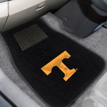 University of Tennessee Embroidered Black Car Mat, Set of 2
