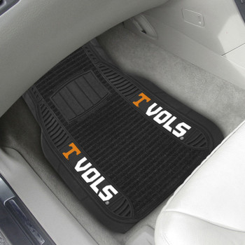 University of Tennessee Deluxe Vinyl & Black Carpet Car Mat, Set of 2