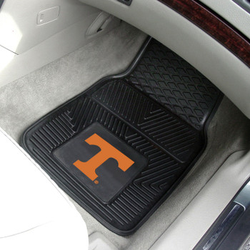 University of Tennessee Heavy Duty Vinyl Front Black Car Mat, Set of 2
