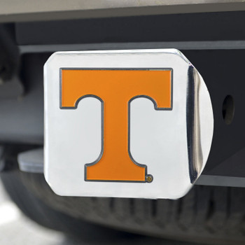 University of Tennessee Color Hitch Cover - Chrome