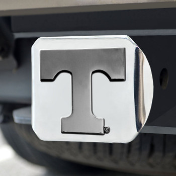 University of Tennessee Hitch Cover - Chrome on Chrome