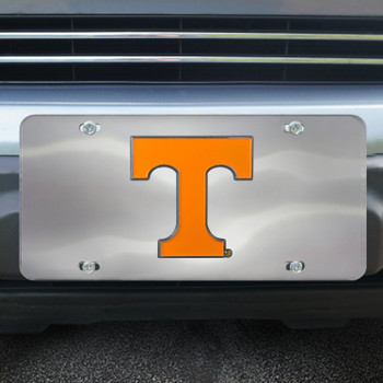 University of Tennessee Diecast Stainless Steel License Plate