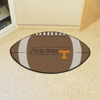 "20.5"" x 32.5"" University of Tennessee Southern Style Football Shape Mat"