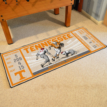 "30"" x 72"" University of Tennessee Ticket Rectangle Runner Mat"