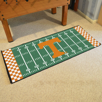"30"" x 72"" University of Tennessee Football Field Rectangle Runner Mat"