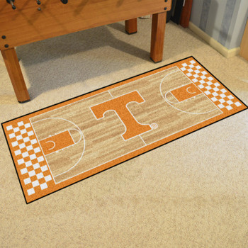 "30"" x 72"" University of Tennessee NCAA Basketball Rectangle Runner Mat"