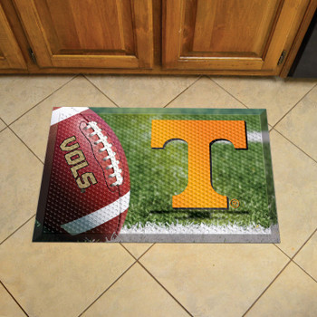 "19"" x 30"" University of Tennessee Rectangle Scraper Mat - ""Power T"" Logo"
