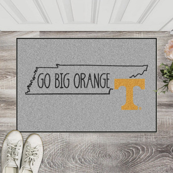"19"" x 30"" University of Tennessee Southern Style Gray Rectangle Starter Mat"