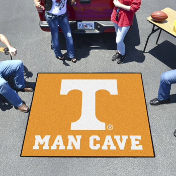 "59.5"" x 71"" University of Tennessee Man Cave Tailgater Orange Rectangle Mat"