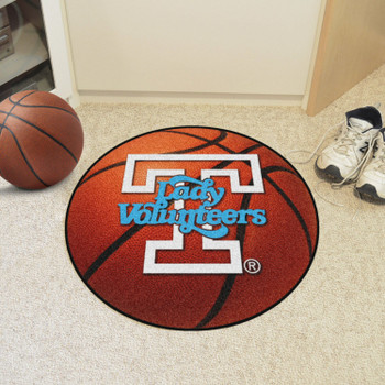 "27"" University of Tennessee Orange Basketball Style Round Mat"