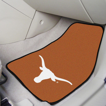University of Texas Orange Carpet Car Mat, Set of 2