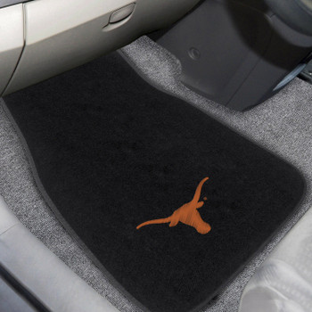 University of Texas Embroidered Black Car Mat, Set of 2