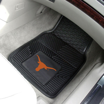 University of Texas Heavy Duty Vinyl Front Black Car Mat, Set of 2