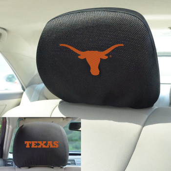University of Texas Car Headrest Cover, Set of 2