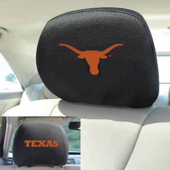University of Texas Car Headrest Cover, Set of 2