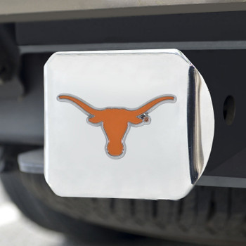 University of Texas Color Hitch Cover - Chrome