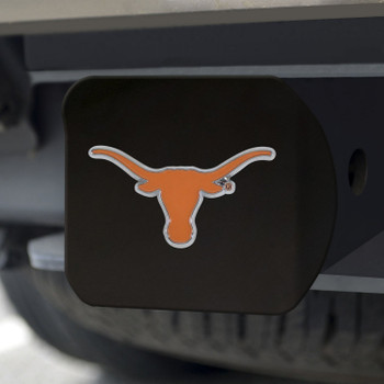 University of Texas Hitch Cover - Color on Black