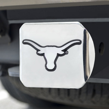University of Texas Hitch Cover - Chrome on Chrome