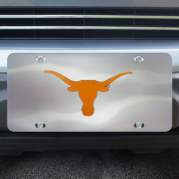 University of Texas Diecast Stainless Steel License Plate