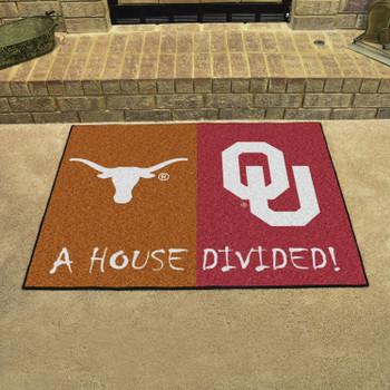 "33.75"" x 42.5"" Texas / Oklahoma House Divided Rectangle Mat"